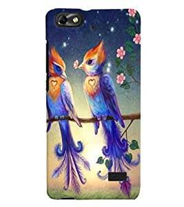 Fuson Love Couple Birds Back Case Cover for HUAWEI HONOR 4C - D3924