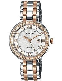 Casio Sheen Analog Silver Dial Women's Watch - SHE-4034BSG-7AUDR (SX156)