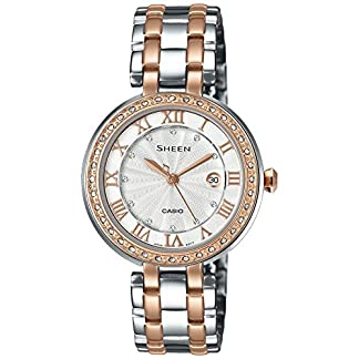 Casio Sheen Analog Silver Dial Women's Watch – SHE-4034BSG-7AUDR (SX156)
