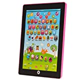 Computers Kids Best Deals - My First Tablet Kids Childrens Laptop Touch Type Learning Computer Educational Toy Game, Pink