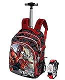 ZAINO TROLLEY Spiderman Uomo Ragno Peso Solo 2,15 Kg 19 x 30 x 48 cm + orologio omaggio
