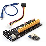 Generic PCI-E 1x to 16x Powered USB 3. 0 Extender Adapter Riser Card for Graphics Bitcoin