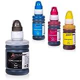 Logic-Seek 4 Tintenbehälter kompatibel für Brother BT6000 BT5000 für Brother DCP-T300 T500W T700W MFC-T800W