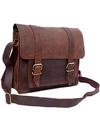 ECHO Genuine Leather Multi-Pocket Backpack Laptop Bag Unique