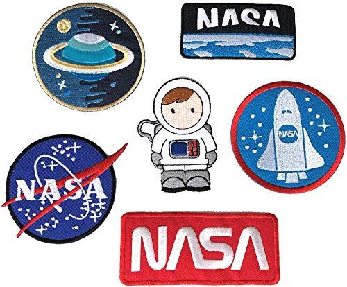 0172 - Sticker - Badges - Astronaut - Stickerei - Applikation - Aufnäher - Planet - Raumschiff - Raumfahrt - Aufbügler - Flicken - zum aufbügeln - Space - Alien - Rakete - Astro ()