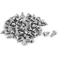 Portal Cool Tornillos autorroscantes 50pcs de la cabeza de la cacerola del acero inoxidable del hilo de 2.9mmx6.5mm