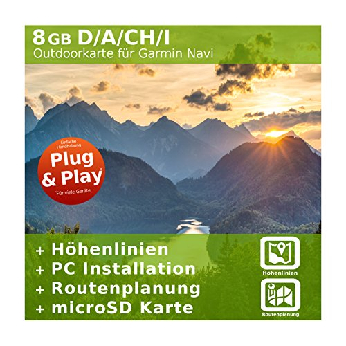 Germania, Austria, Svizzera, Italia 4GB Topo moviepostersdirect-per Garmin Colorado