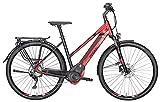 Damen E-Bike 28 Zoll rot schwarz- Pegasus Premio Evo 10 - Elektrofahrrad 500Wh Akku, 10 Gänge
