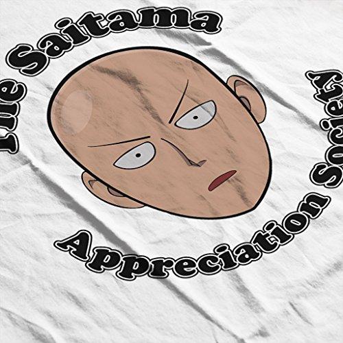 The Saitama Appreciation Society One Punch Man Womens Hooded Sweatshirt white