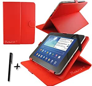 Red PU Leather Case Cover Stand for FUSION5 & HD & XTRA & V3 10.1'' 10.1 Inch Android Tablet Pc + Stylus Pen