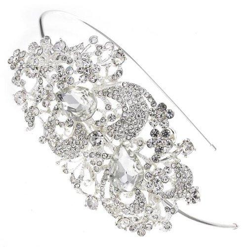 Sweeping Treasure Swarovski Crystal Bridal Hair Band Headband Tiara by Bridal Wedding Accessories.co.uk