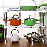 Küche Spüle Regal Etagenbett Storage Rack Verstellbarer Schrank abnehmbarer Organizer Regal