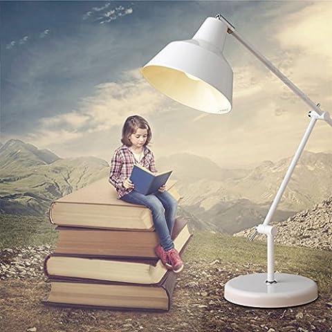 Soporte de lámpara de mesa plegable ajustable moderna de aprendizaje minimalista lámpara del ojo de la lámpara de escritorio sombra escandinava para