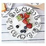 Gatto Super Carino Piatto in ceramica dessert Antipasto insalata bistecca servizio per la cucina del partito Compleanno Catering per matrimoni Meow Porcellana 7 pollici(2 Pezzi)