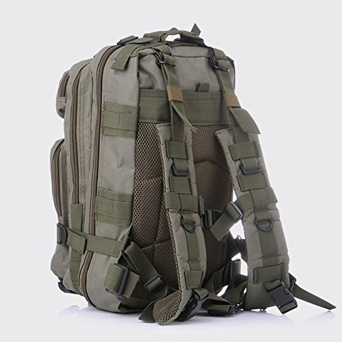 Pizz Annu sport all' aperto zaino tattico camouflage borsa per campeggio viaggio escursionismo, unisex, Dead leaves Camouflage Army green