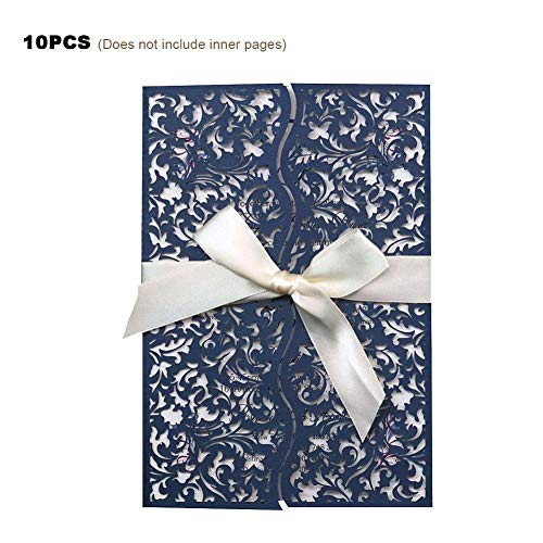 Einladungskarten Hohlbauweise Exquisit Elegant Hochzeitseinladungen Dreidimensional Mit Farbband Einladungen Für Party Geburtstag Geschäft Jahrestag ()