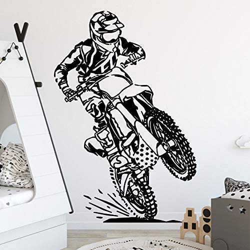 yaoxingfu Modern Motor Cycle Wall Sticker Vinyl Waterproof Decor for Kids Rooms Bedroom Decoration Decal Creative Stic    57cm X 84cm