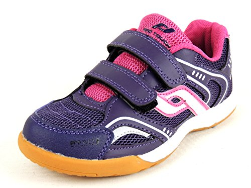 PRO TOUCH Indoor-Schuh Courtplayer Klett Jr. für Kinder - blau/gelb PURPLE/PINK