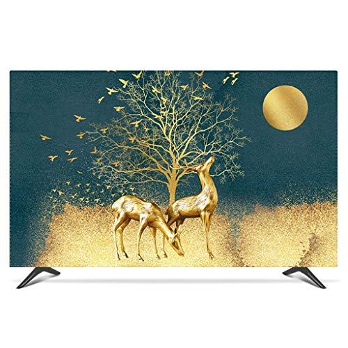 Monitor Hülle Polyesterbezug Staubdichtes, antistatisches LCD- / LED- / HD-Display-Schutzgehäuse Kompatibel mit Curved-TV, Desktop-TV und Hänge-TV-65Zoll-D