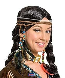 indianerschmuck indianer kopfbedeckung federschmuck haarband stirnband fasching karneval. Black Bedroom Furniture Sets. Home Design Ideas