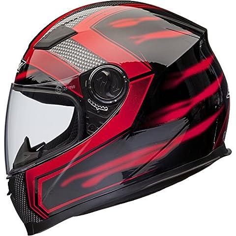 Shox Sniper Skar Casque Moto Intégral S Rouge
