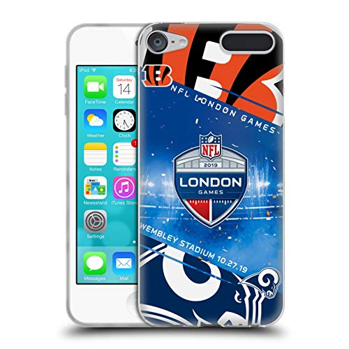 Ipod Touch Ram (Head Case Designs Offizielle NFL Bengals VS. Rams 2019 London Games Soft Gel Huelle kompatibel mit Apple iPod Touch 6G 6th Gen)