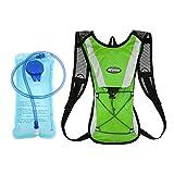 Paquete de hidratación profesional, Mochila mochila KUYOU con 2L (70 oz) Sistema de tubo de vejiga de agua Perfecto para chaleco de hidratación de carrera Ciclismo Escalada de senderismo Bolsa de actividades al aire libre