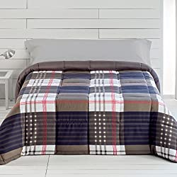 EDREDONES BARCELÓ - Edredones cuadros Otoño-Iniverno de 300gr/m2 para cama de 135 (235x270)