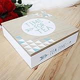 Best MODA & Store regali per gli amanti - 5th Anniversary geometriche in legno scomparti Tea box Review