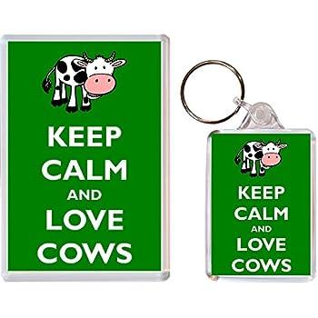 KEEP CALM AND LOVE HONEY BEES Keyring or Fridge Magnet GIFT PRESENT IDEA