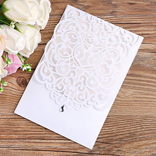 Lederpolster Lacer Schnitt Hochzeit Einladungen Karten für Hochzeit Brautschmuck Dusche Einladung Baby Dusche Verlobung Geburtstag Einladung Cards