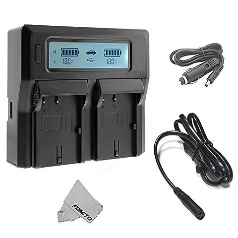 Chargeur de batterie Fomito double numérique avec écran LCD pour Sony NP-F970 F960 F950 F750 F550 FM50 HDV Batteries