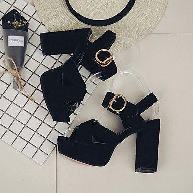 RTRY Donna Sandali Suole Marylight Pu Estate Abbigliamento Casual A Piedi Suole Marylight Fibbia Tacco Piatto Bianco Nero Flat US6 / EU36 / UK4 / CN36