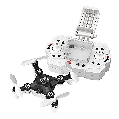 Preisvergleich Produktbild FQ777 FQ11W Mini Faltbare Tasche Drone mit 0.3MP WIFI FPV Kamera 3D Roll One Key To Return Foto Record Video Quadcopter (Schwarz)