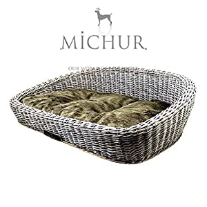 sylt gris panier pour chien en osier couleur gris animalerie. Black Bedroom Furniture Sets. Home Design Ideas