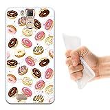 WoowCase Oukitel K6000 Pro Hülle, Handyhülle Silikon für [ Oukitel K6000 Pro ] Donuts Handytasche Handy Cover Case Schutzhülle Flexible TPU - Transparent