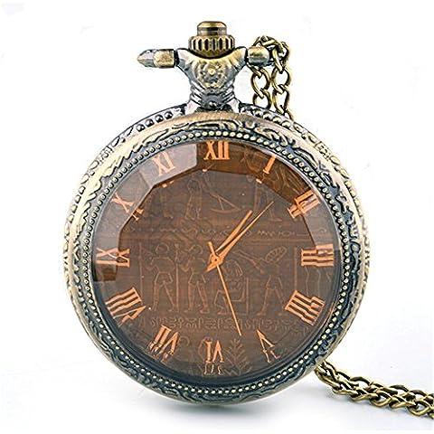 Reloj de bolsillo collar bronce patrones con estilo