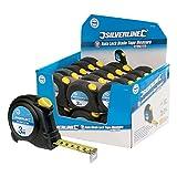 No Name Silverline Rollbandmaß mit automatischer Rücklaufsperre, 3mx16mm, 30er Pack
