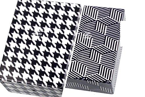 2 Zigarettenboxen XXL Pepita + Cube schwarz/Weiss für Big Box mit 30 Zigaretten Etui Kunststoff