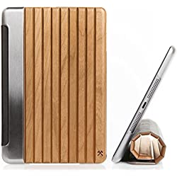 Woodcessories - EcoGuard iPad Case - Premium Design Cover, Hülle für das iPad aus echtem Holz (iPad Air 2, Kirsche, Hardcover transparent)