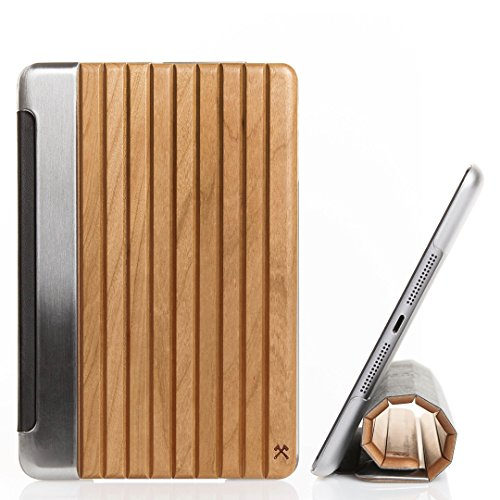 Woodcessories - EcoGuard iPad Case - Premium Design Cover, Hülle für das iPad aus echtem Holz (iPad Air 2, Kirsche, Hardcover transparent)