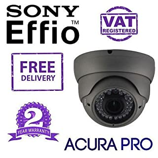 acurapro Sony Effio 700TVL varifokales Infrarot-Dome CCTV Kamera braun