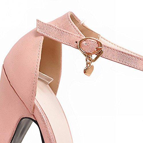 MissSaSa Donna Sandali col Tacco Alto Elegante e Fashion Rosa