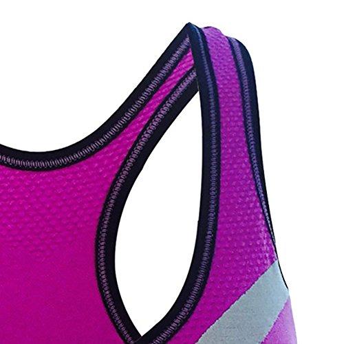 iBaste Extreme Control Soutien-gorge de Sport Zippé Devant Femme Violet
