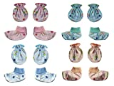 #8: MY BABY Unisex Mittens and Booties Combo of 8 pairs (Multi-color - 0-6 Months) (Design & Color May Vary)