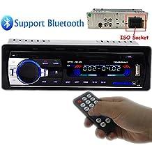 PolarLander la radio de coche de audio USB / SD / MP3 Receptor Bluetooth manos libres con control remoto Negro 1 Din