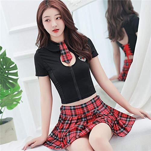 Sexy Plaid Rock Schoolgirl Frauen Cosplay Student Uniformen Anzüge Schulkostüm Sexy Dessous Für Rollenspiele, One Size