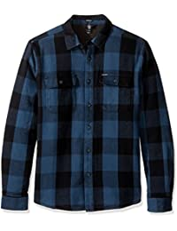 Chemise à manches longues Volcom Enders - Thermal Liner Flannel Airforce Bleu