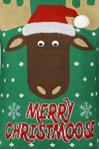 Seasons Greetings Herren Pullover Merry Xmoose - Christmas Green
