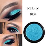 Anglewolf Phoera Highlighter Makeup Glitter Shimmering Ombretto Occhi Metallici Cosmetici 22g (C) immagine